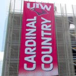 large format outdoor banner for university